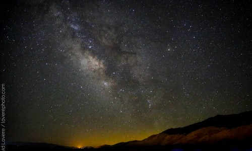 Milky Way, photographed near Lone Pine, CA