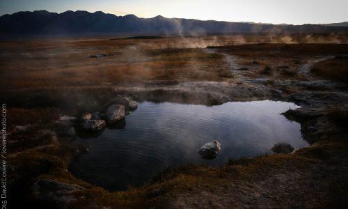 Sunrise at hot springs near Mammoth Lakes, CA