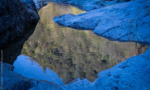 Reflections in shadow, South Yuba River, CA